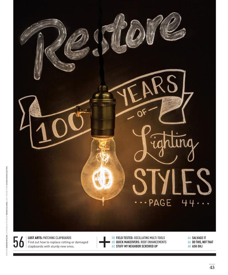 100 Years of Lighting Styles by Megan Hillman