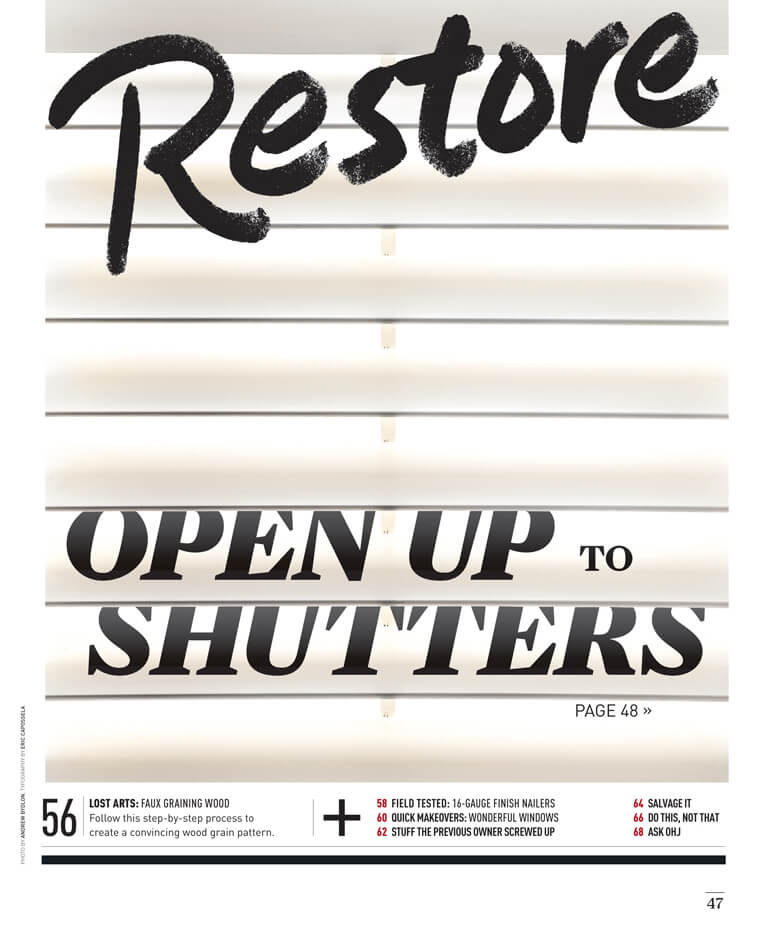 Open Up to Shutters by Megan Hillman