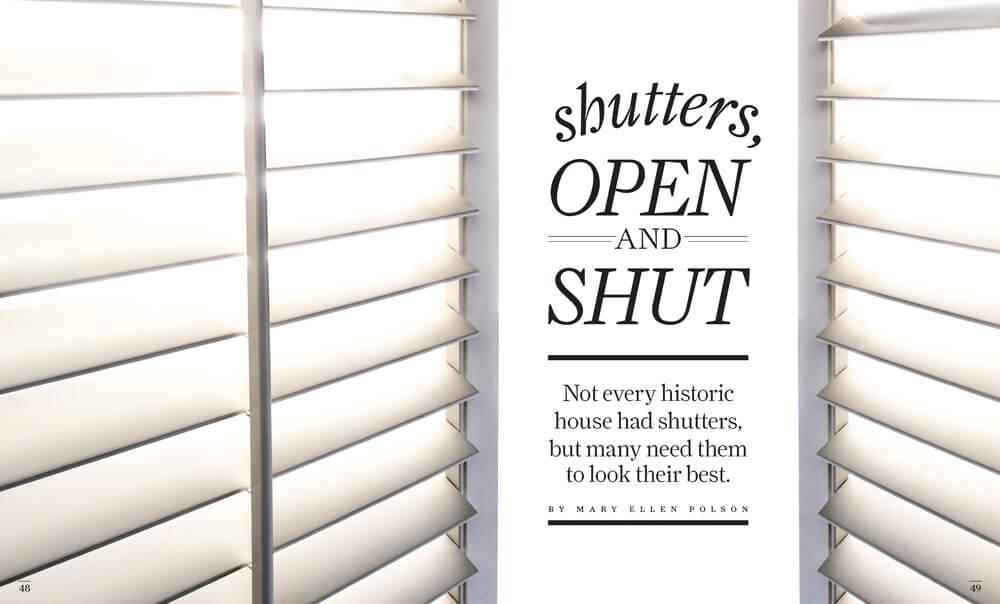 Shutters: Open and Shut by Megan Hillman